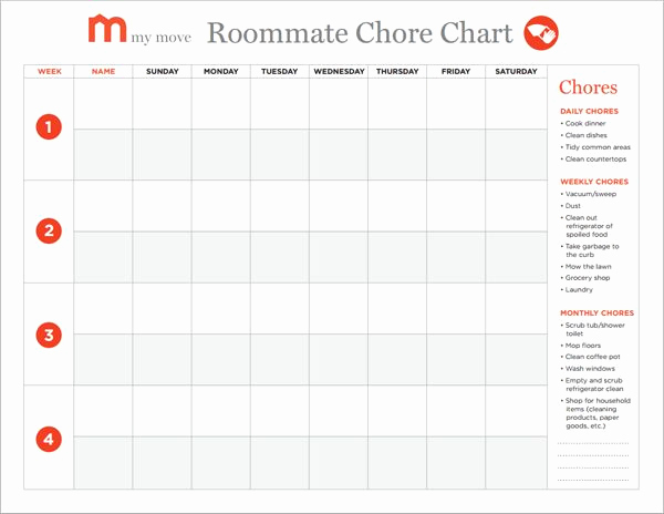 Chore List for Adults Fresh Best 25 Roommate Chore Chart Ideas On Pinterest