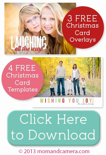 Christmas Card Templates for Photoshop Awesome Free Christmas Card Templates and Overlays for Shop