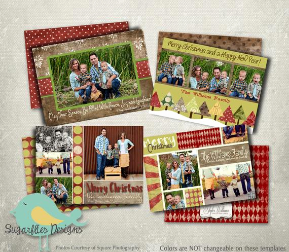Christmas Card Templates for Photoshop Beautiful Christmas Card Template Photoshop Template Holiday Rustic 4