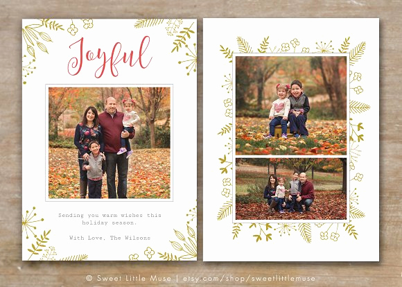 Christmas Card Templates for Photoshop Elegant Holiday Card Template for Shop Card Templates