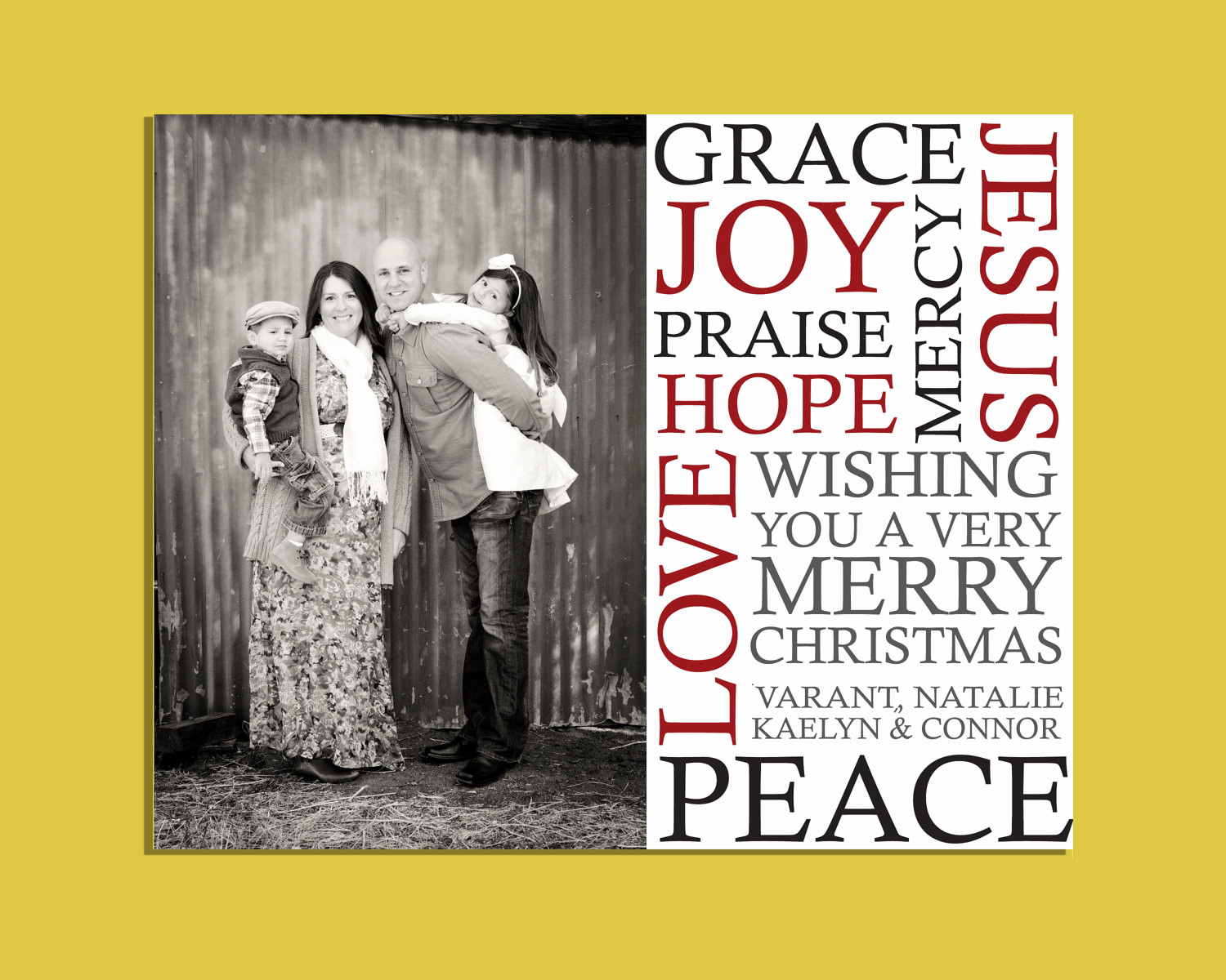 Christmas Card Templates for Photoshop Fresh 6x7 5 Subway Christmas Card Template Shop Sized for