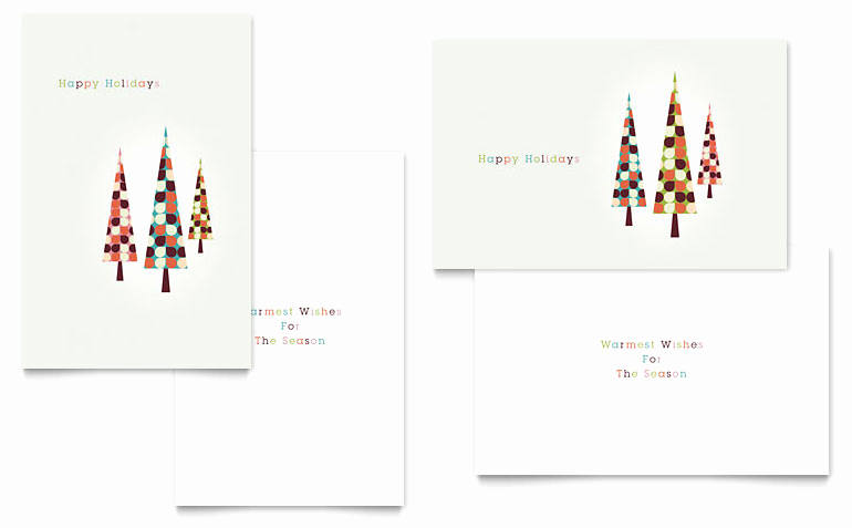 Christmas Card Templates Word Awesome Modern Holiday Trees Greeting Card Template Word & Publisher