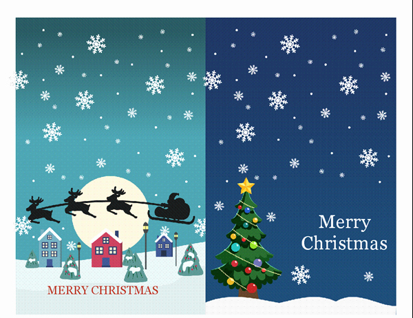 Christmas Card Templates Word Inspirational Holiday Note Cards Christmas Spirit Design 2 Per Page