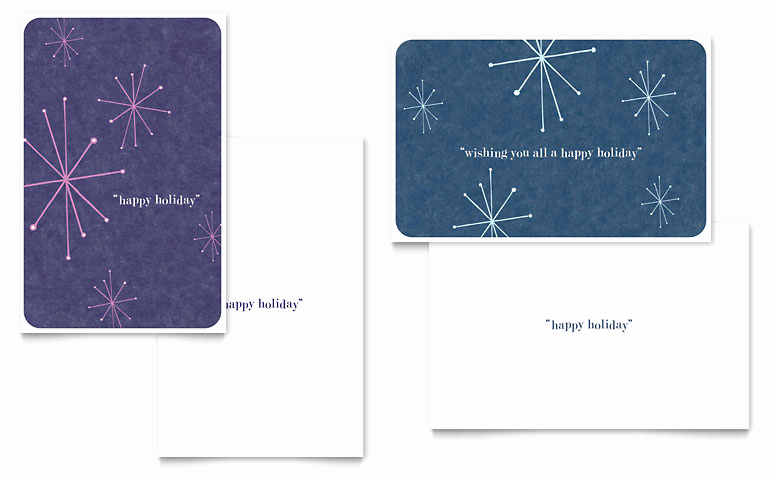 Christmas Card Templates Word Inspirational Snowflake Wishes Greeting Card Template Word & Publisher