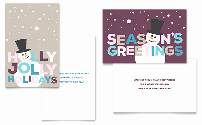 Christmas Card Templates Word Lovely Jolly Holidays Greeting Card Template Design
