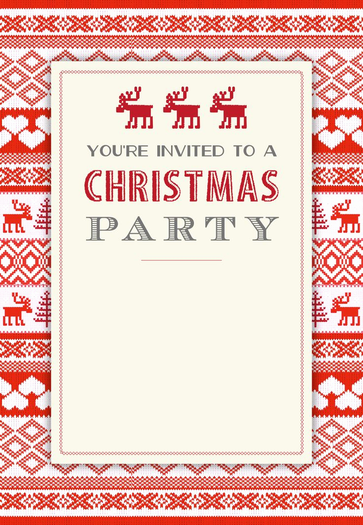 Christmas Party Invitations Free Awesome Sweaters Pattern Free Printable Christmas Invitation