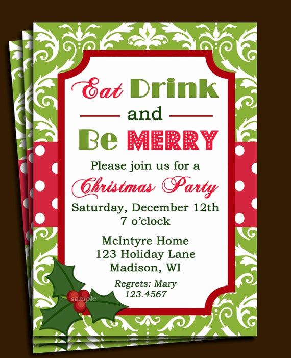 Christmas Party Invitations Free Beautiful Christmas Party Invitation Printable or Printed with Free