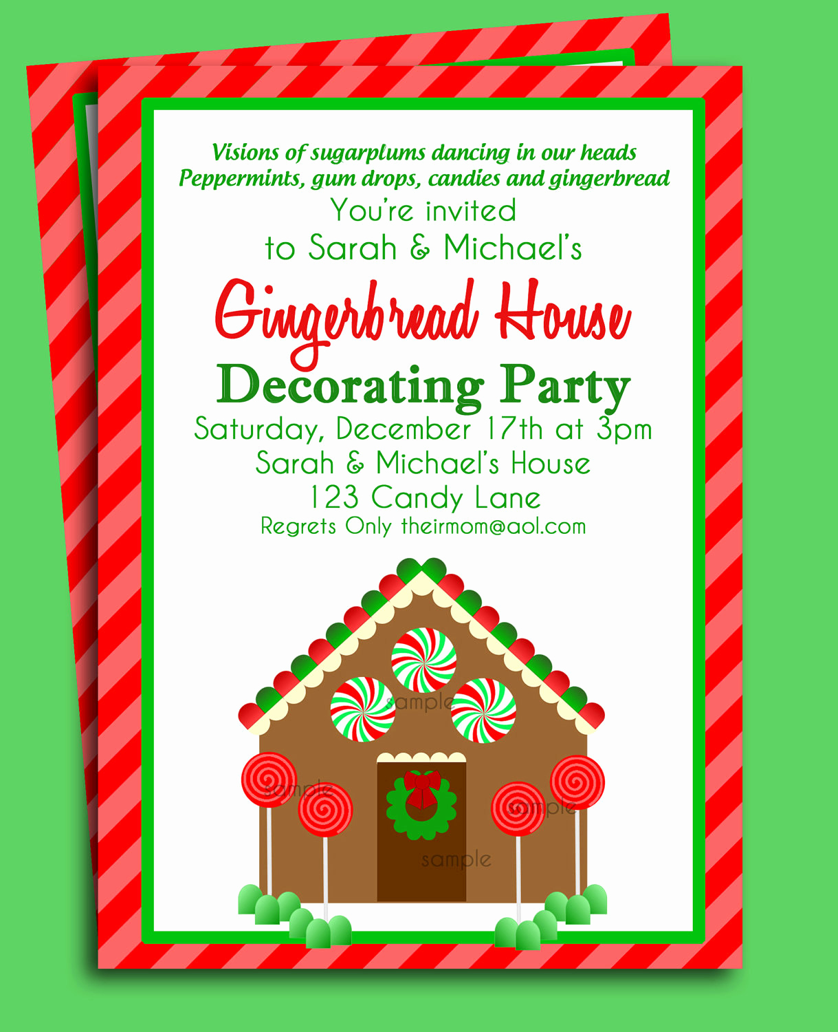 Christmas Party Invitations Free Beautiful Gingerbread House Invitation Printable Christmas Party or