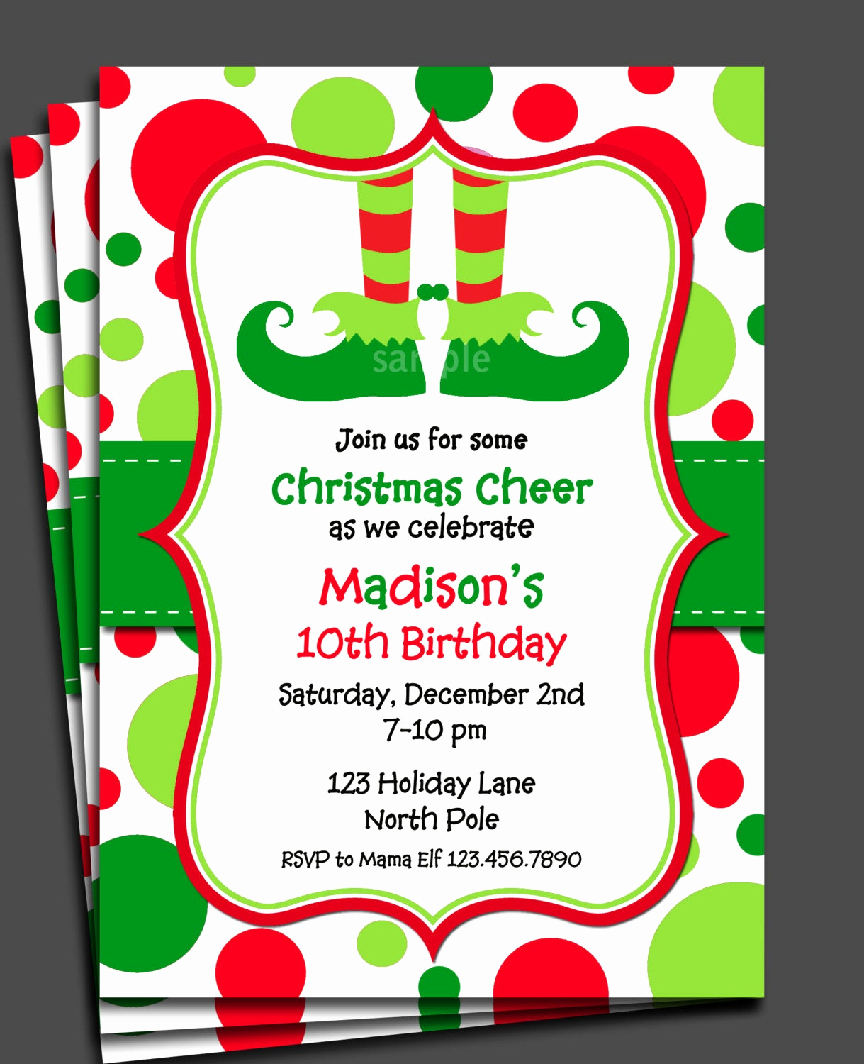 Christmas Party Invitations Free Best Of Christmas Elf Invitation Printable or Printed with Free