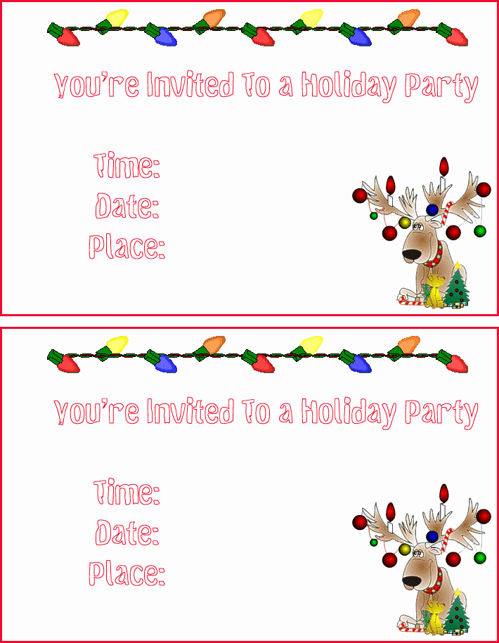Christmas Party Invitations Free Best Of Free Christmas Cards Santa Claus Christmas Invitations
