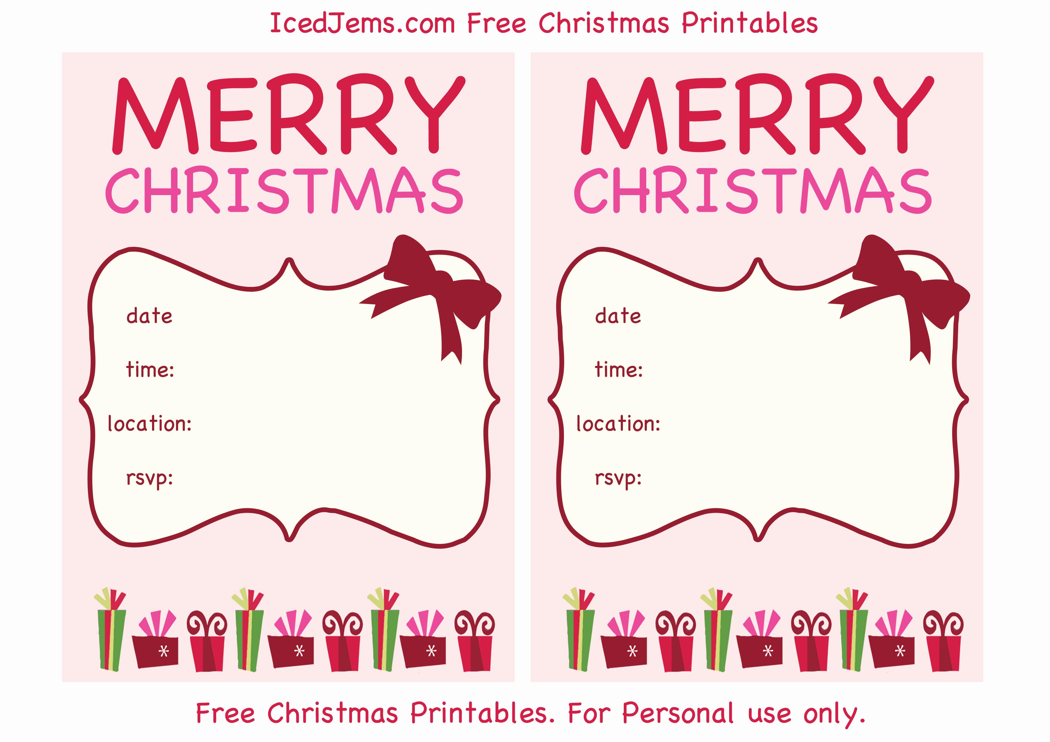 Christmas Party Invitations Free Fresh Free Christmas Party Printables