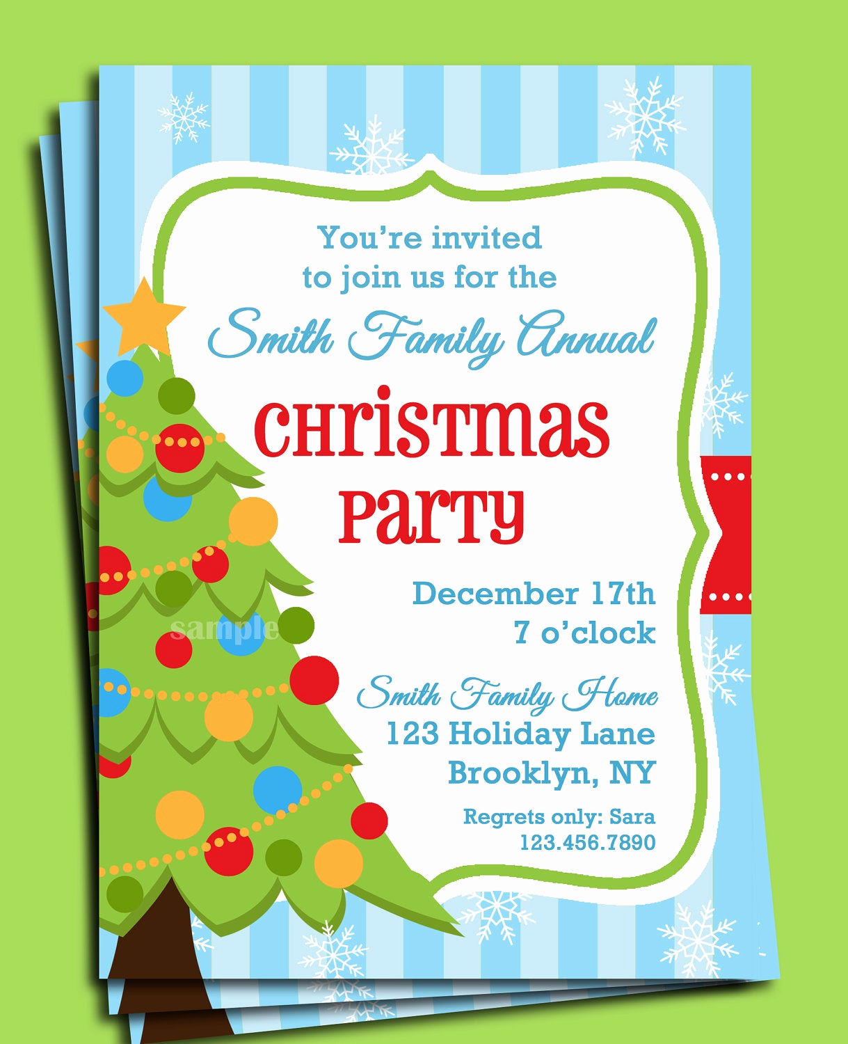 Christmas Party Invitations Free Luxury Christmas Party Invitation Printable Christmas Tree In Snow