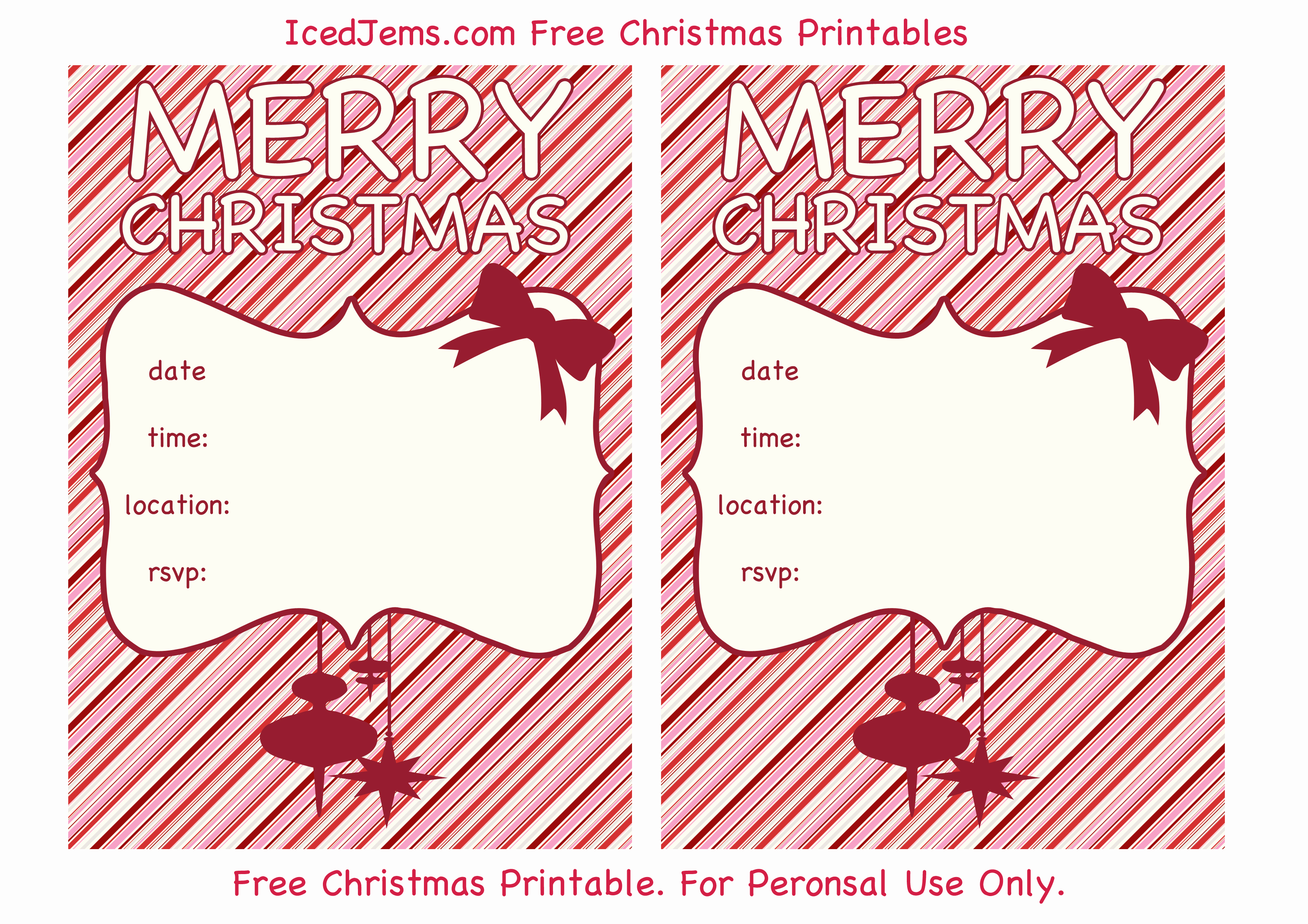 Christmas Party Invitations Free Luxury Free Christmas Party Printables