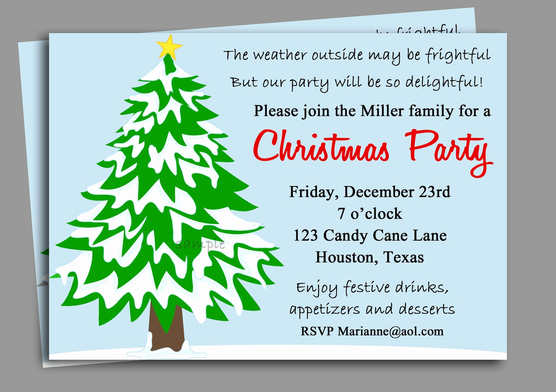 Christmas Party Invitations Free New Christmas Party Invitation Printable Winter Wonderland