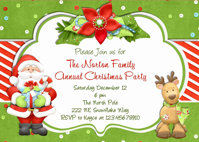 Christmas Party Invitations Free Unique Christmas Party Invitation Christmas Holiday Party