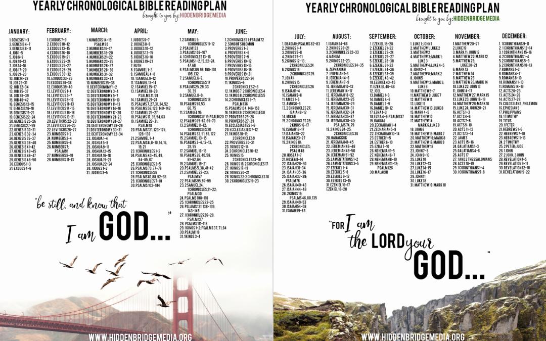 Chronological Bible Reading Plan Pdf Fresh Chronological Bible Reading Plan