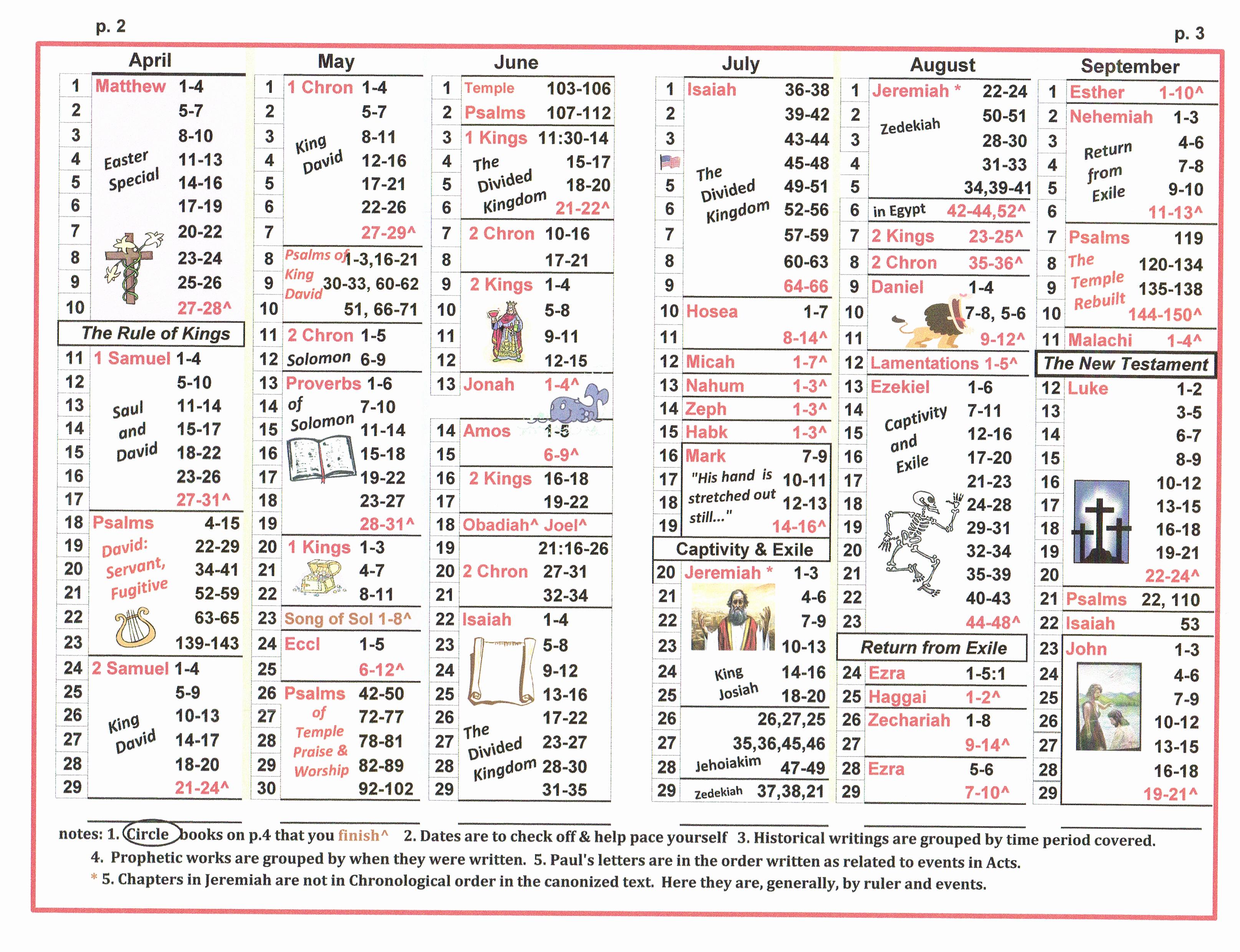 Chronological Bible Reading Plan Pdf Inspirational E Year Bible Reading Plan