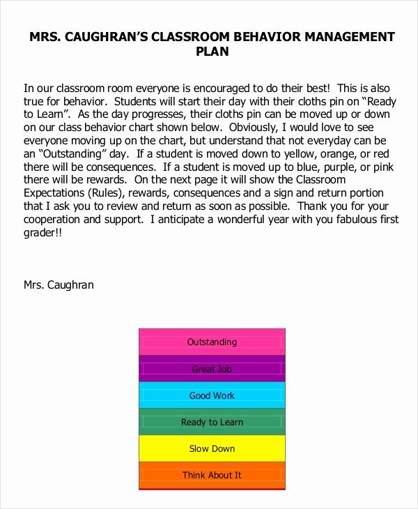Classroom Management Plan Template New 11 Classroom Management Plan Templates Free Pdf Word
