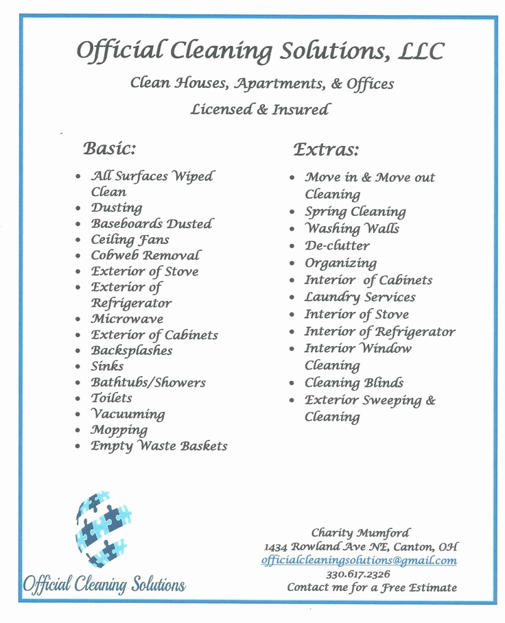 Cleaning Services Prices List Awesome 14 Best Cleaning Service Images On Pinterest