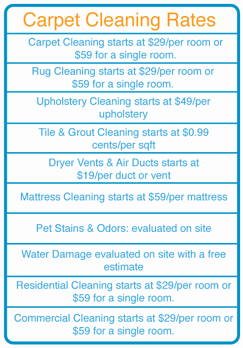 Cleaning Services Prices List Beautiful Price List – My Dispatch solutions