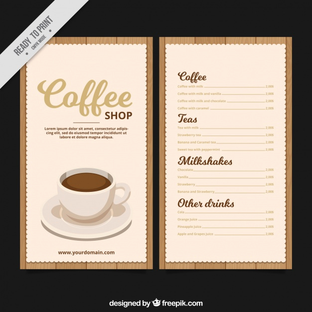 Coffee Shop Menu Template Awesome Retro Coffee Menu Template Vector
