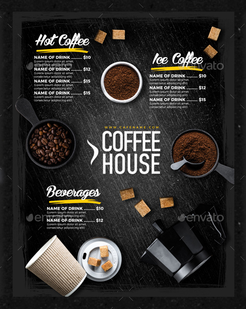 Coffee Shop Menu Template Beautiful 15 Coffee Shop Menu Designs & Templates Psd Indesign