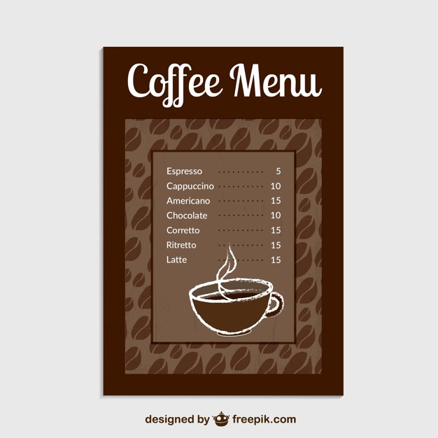 Coffee Shop Menu Template Beautiful Coffee Menu Template Vector