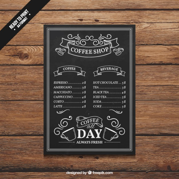 Coffee Shop Menu Template Fresh Best Selections Of 50 Coffee Shop Graphics and Resources