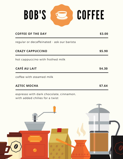 Coffee Shop Menu Template Lovely Customize 283 Coffee Shop Menu Templates Online Canva