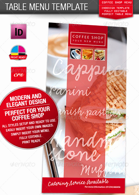 Coffee Shop Menu Template Unique 23 Creative Restaurant Menu Templates Psd & Indesign