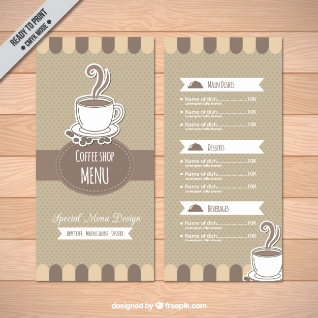 Coffee Shop Menu Template Unique Coffee Shop Menu Template Vector