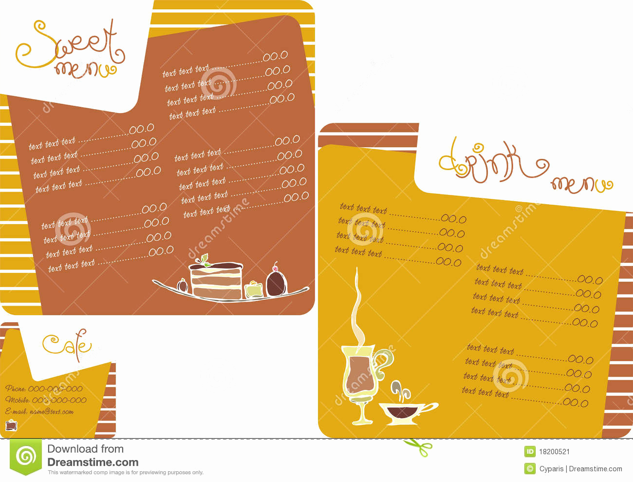 Coffee Shop Menu Template Unique Template Menu for Coffee Shop Stock Image Image