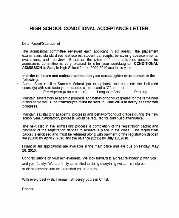 College Acceptance Letter Sample Awesome 16 Acceptance Letters Free Sample Example format