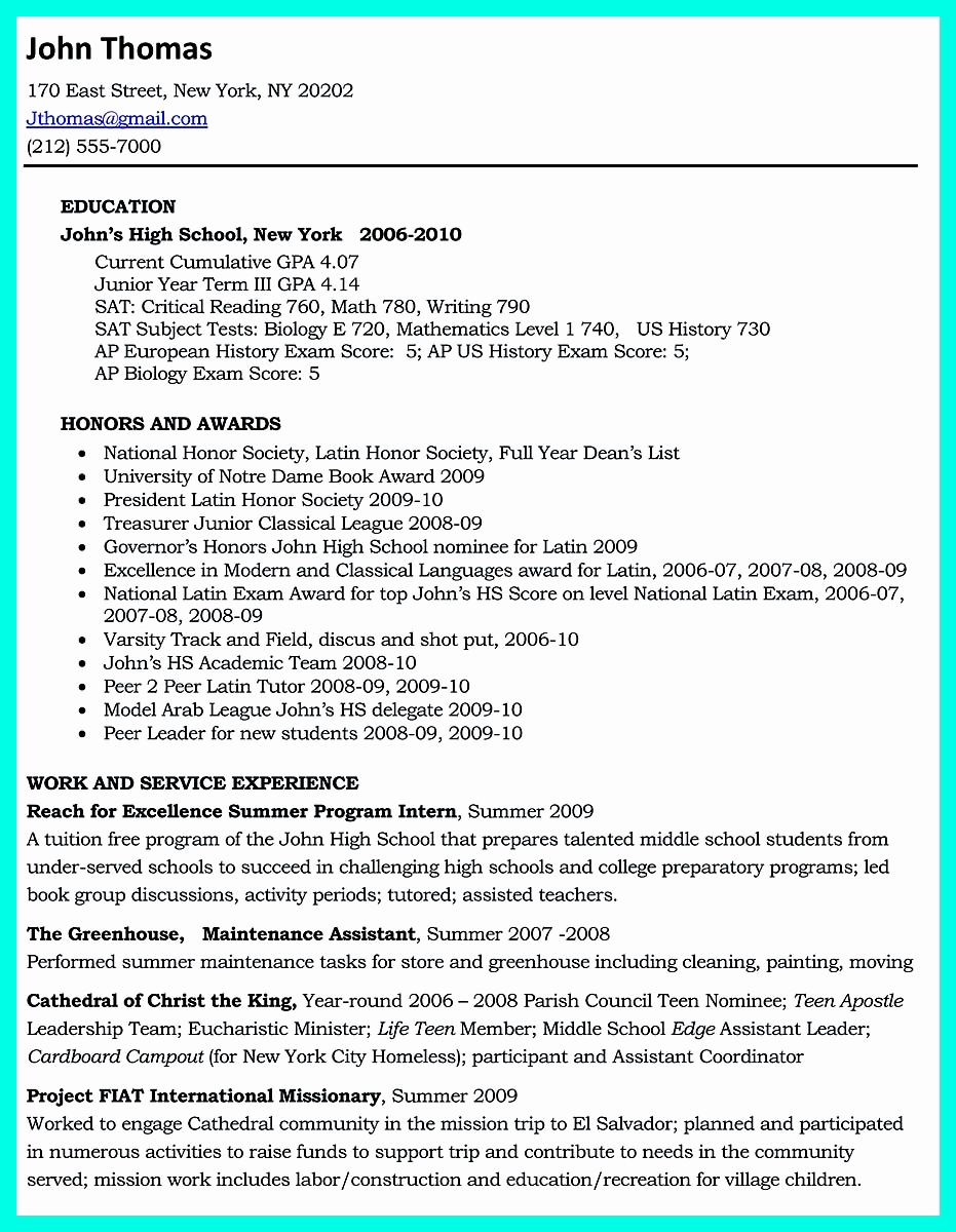College Application Resume Examples Elegant Write Properly Your Ac Plishments In College Application