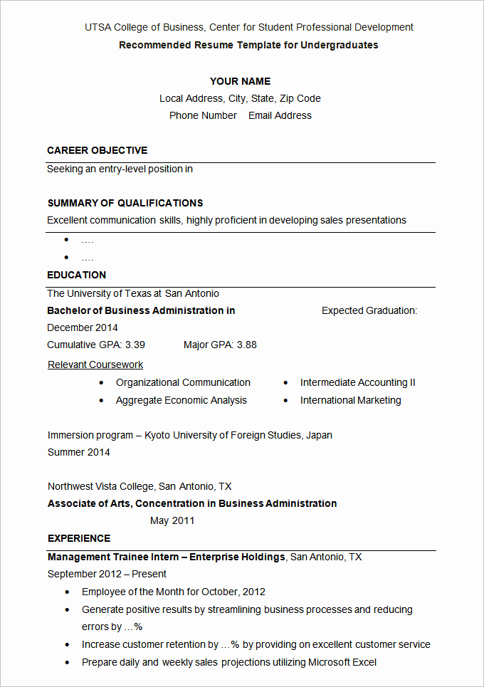 College Application Resume Examples Unique How to Write A Cv for Admission In A University