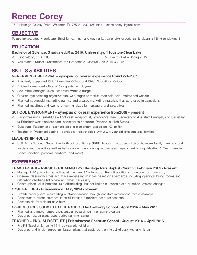 College Graduate Resume Template Lovely Recent College Graduate In Psychology Resume