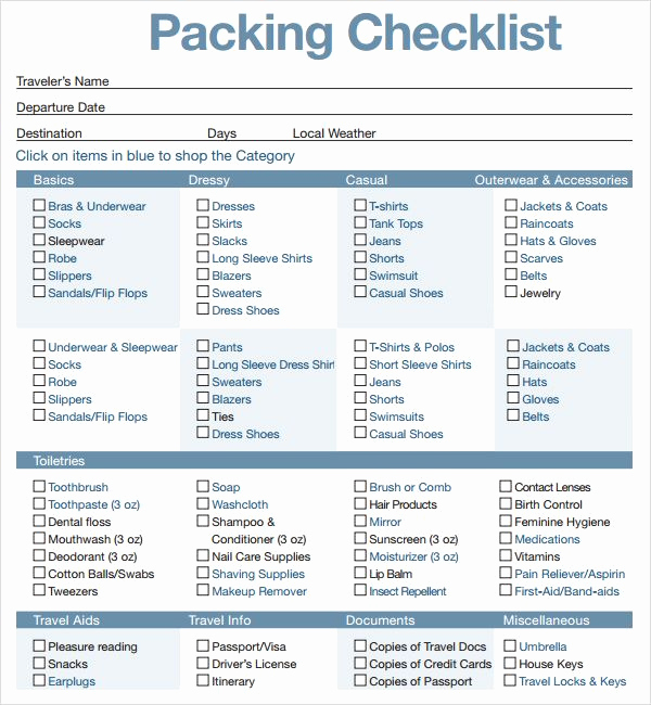 College Packing List Pdf Awesome Printable Travel Packing List Travel In 2019