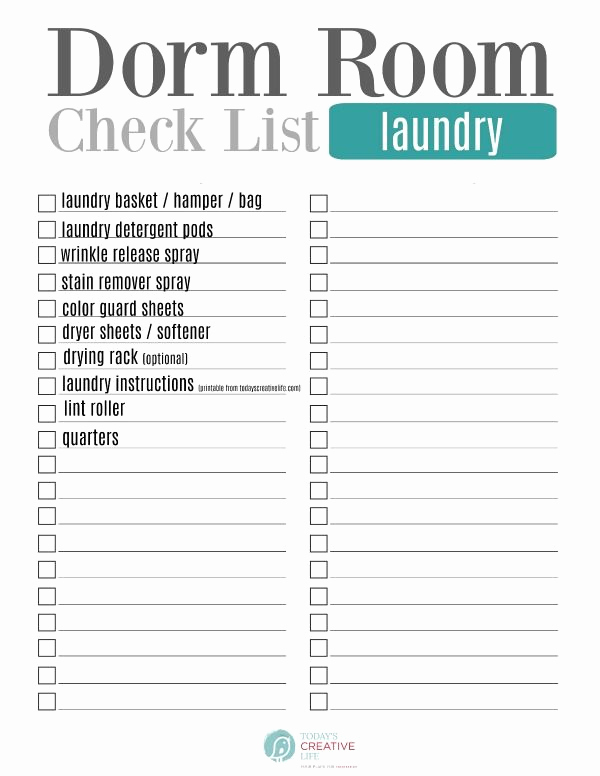 College Packing List Pdf Beautiful College Packing List Free Printable