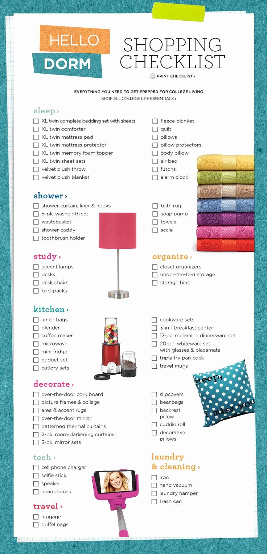 College Packing List Pdf Fresh Best 25 College Dorm Checklist Ideas On Pinterest