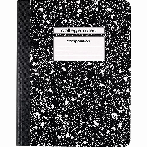 College Ruled Notebook Paper Beautiful Staples Position Notebook College Ruled Black 9 3 4