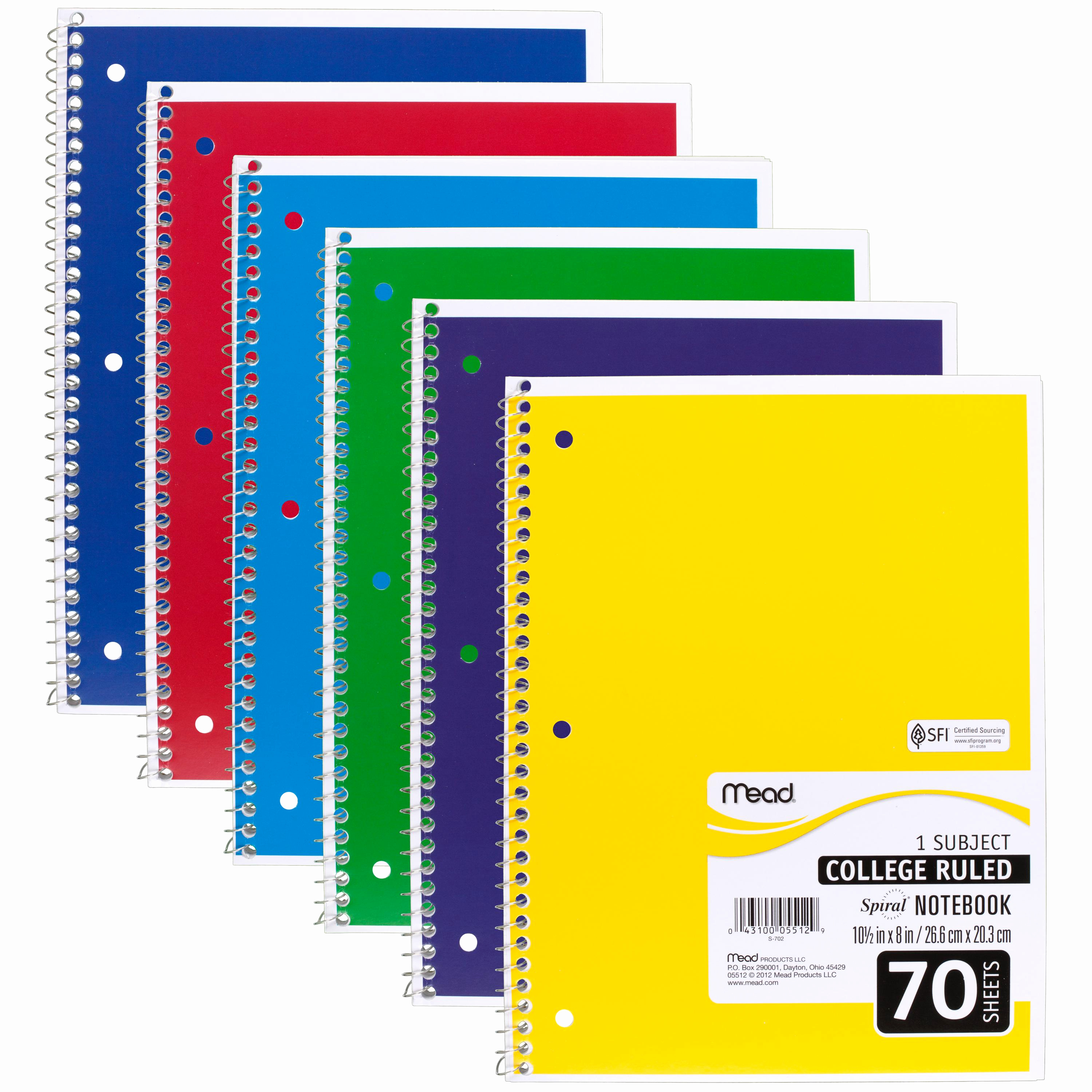 College Ruled Notebook Paper Fresh Amazon Mead Spiral Notebook College Ruled 1 Subject