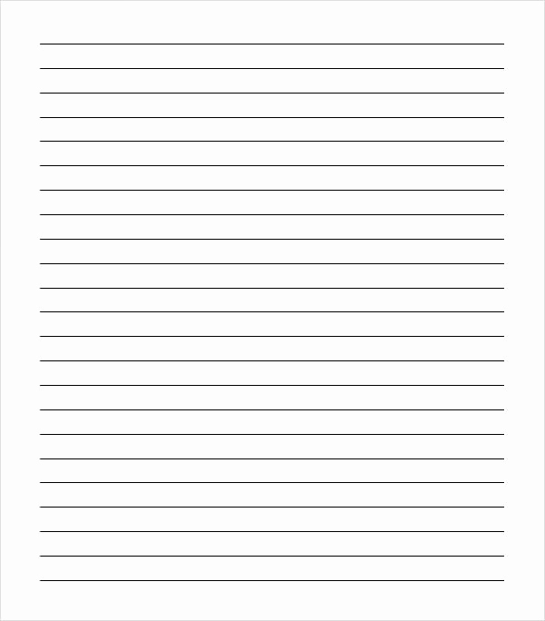 College Ruled Notebook Paper Lovely Sample College Ruled Paper Template 9 Free Documents In