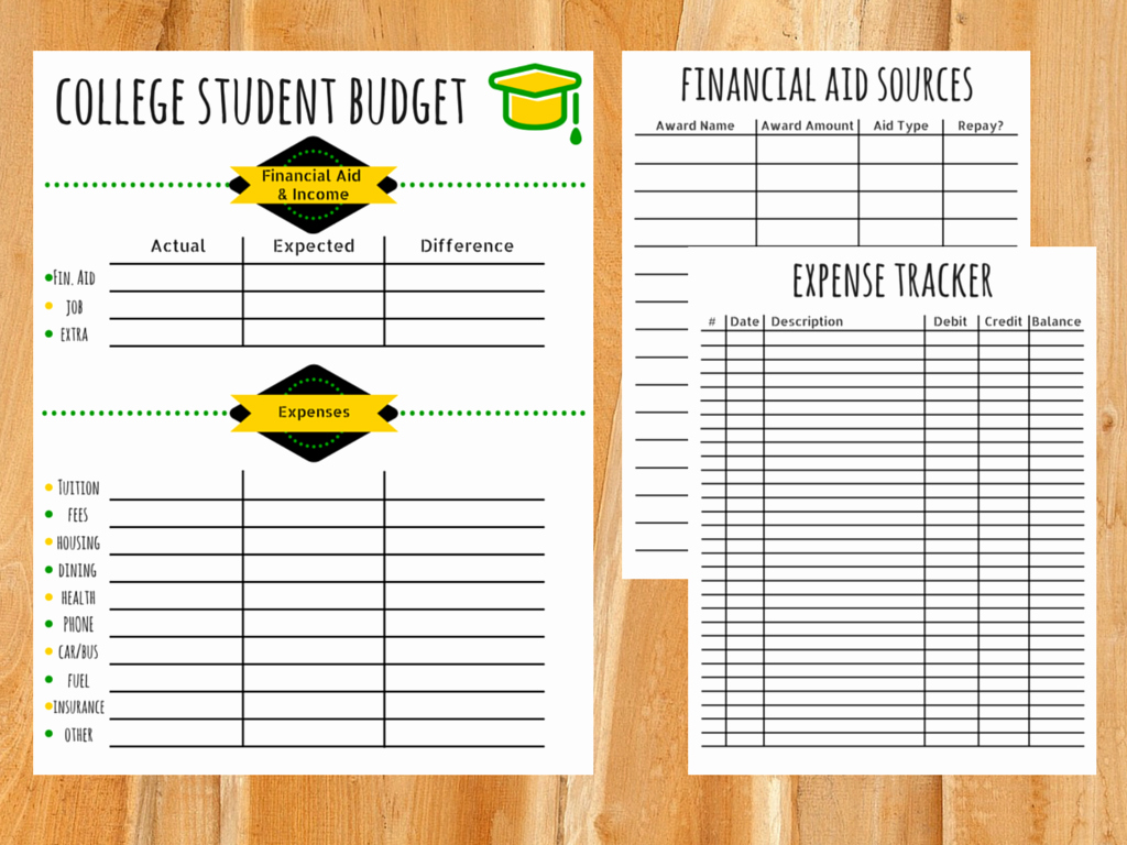 College Student Budget Template Awesome College Bud Template Free Printable for Students