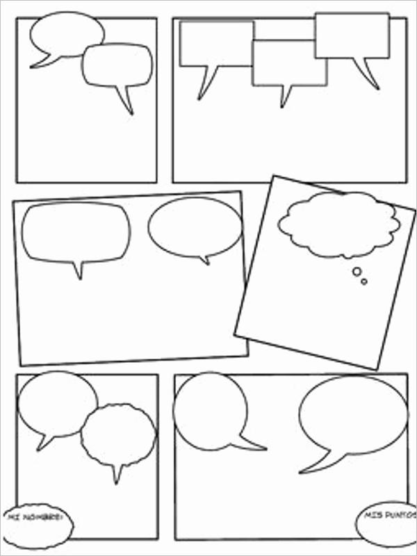 Comic Strip Template Pdf Beautiful 16 Ic Strip Template Free Word Pdf Doc formats