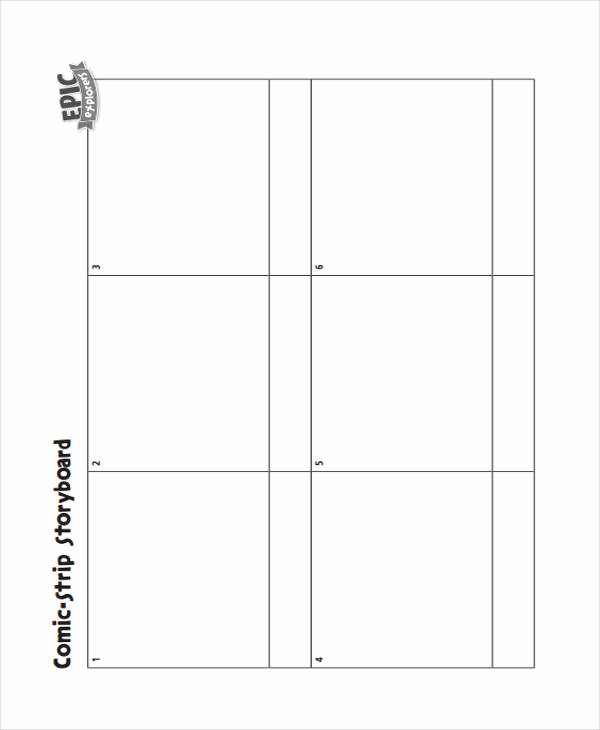 Comic Strip Template Pdf Elegant 6 Ic Storyboard – Examples In Word Pdf