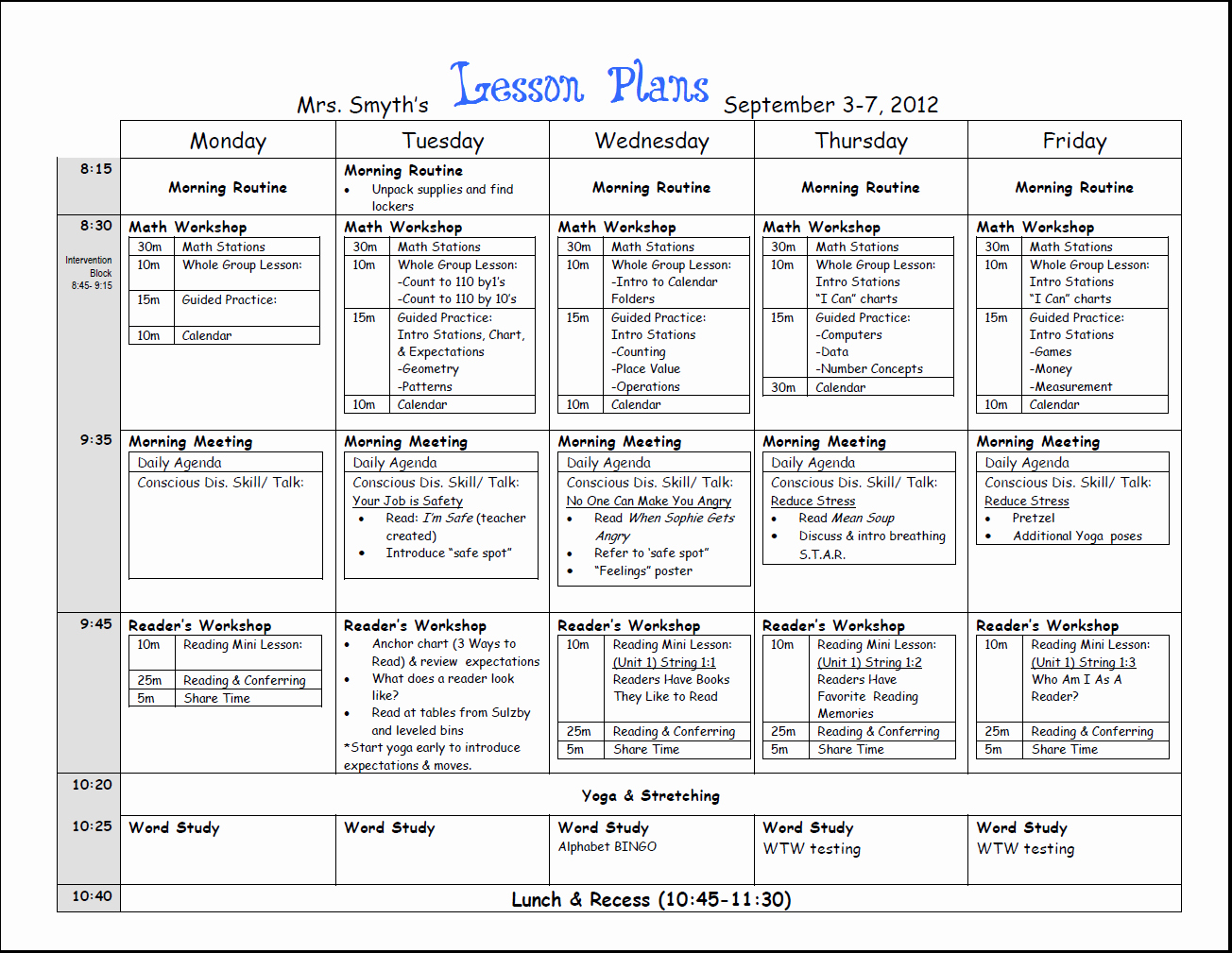 Common Core Lesson Plan Template Luxury Free Weekly Lesson Plan Template and Teacher Resources