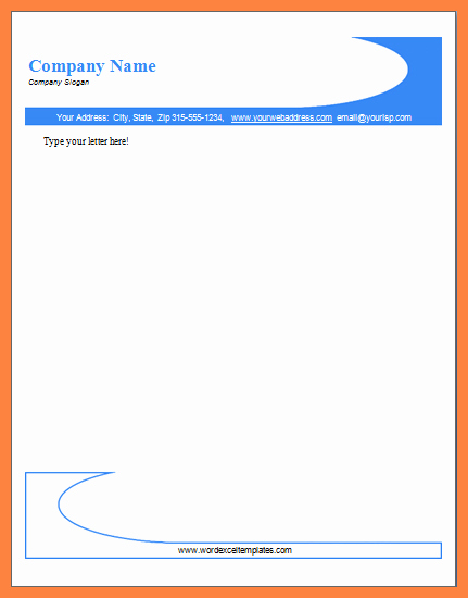 Company Letterhead Template Word Awesome 4 Sample Letterhead Template Word