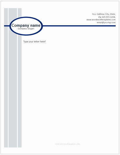 Company Letterhead Template Word Awesome Business Letterhead Templates for Ms Word