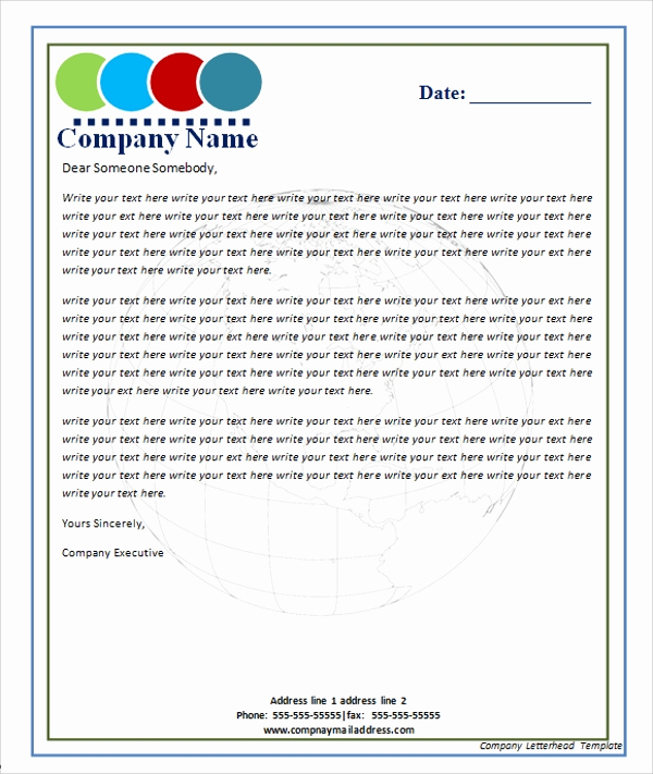 Company Letterhead Template Word Best Of Sample Letterhead Template 13 Free Documents In Pdf