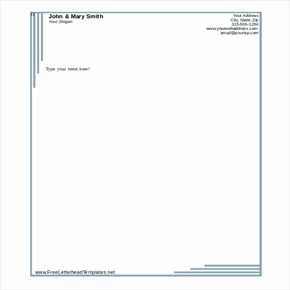 Company Letterhead Template Word Elegant 32 Free Download Letterhead Templates In Microsoft Word